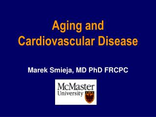 Aging and Cardiovascular Disease