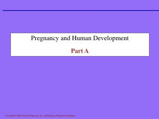 Pregnancy and Human Development Part A