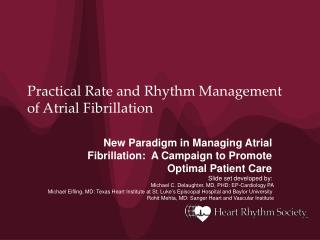 Practical Rate and Rhythm Management of Atrial Fibrillation