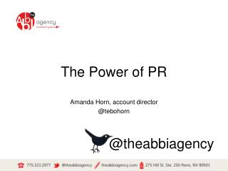 The Power of PR