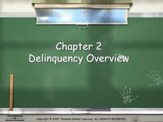 Chapter 2  Delinquency Overview