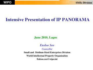 Intensive Presentation of IP PANORAMA