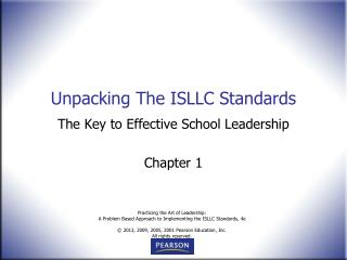 Unpacking The ISLLC Standards