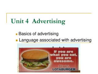 Unit 4  Advertising