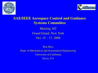 SAE/IEEE Aerospace Control and Guidance Systems Committee