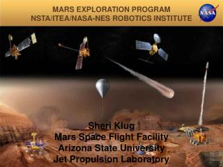 MARS EXPLORATION PROGRAM NSTA/ITEA/NASA-NES ROBOTICS INSTITUTE