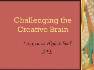 Challenging the Creative Brain