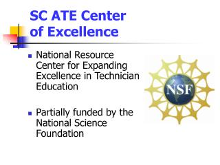 SC ATE Center  of Excellence