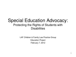 Special Education Advocacy: Protecting the Rights of Students with Disabilities