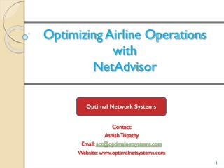 Optimizing Airline Operations  with NetAdvisor
