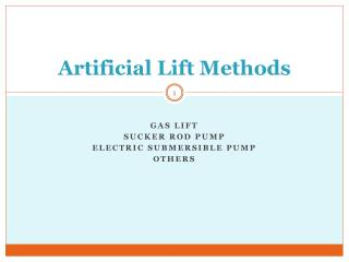 Artificial Lift Methods