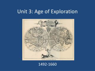 Unit 3: Age of Exploration