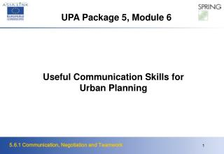 Useful Communication Skills for Urban Planning