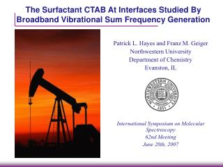 The Surfactant CTAB At Interfaces Studied By Broadband Vibrational Sum Frequency Generation