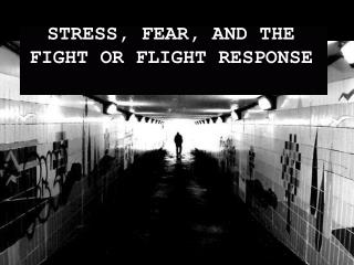STRESS, FEAR, AND THE FIGHT OR FLIGHT RESPONSE