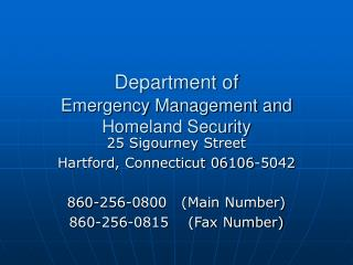 Department of Emergency Management and Homeland Security
