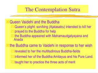 The Contemplation Sutra