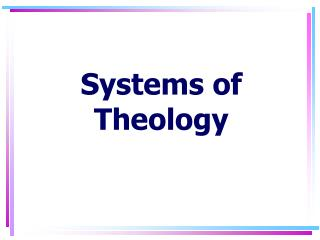 Systems of Theology