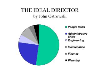 THE IDEAL DIRECTOR by John Ostrowski