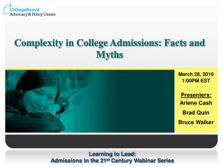 Complexity in College Admissions: Facts and Myths