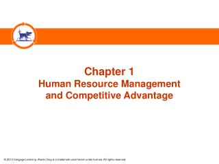 Chapter 1 Human Resource Management  and Competitive Advantage