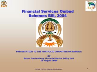 Financial Services Ombud  Schemes Bill, 2004