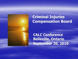 Criminal Injuries Compensation Board