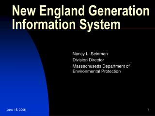 New England Generation Information System