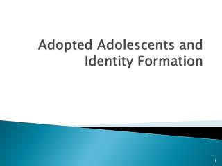 Adopted Adolescents and Identity Formation