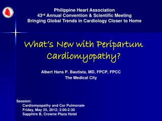 What's New with Peripartum Cardiomyopathy?