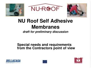 NU  Roof Self Adhesive Membranes draft for preliminary discussion