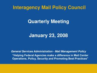 Interagency Mail Policy Council