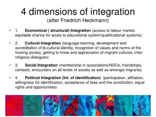 4 dimensions of integration (after Friedrich Heckmann)