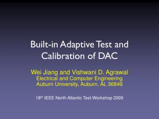Built-in Adaptive Test and Calibration of DAC