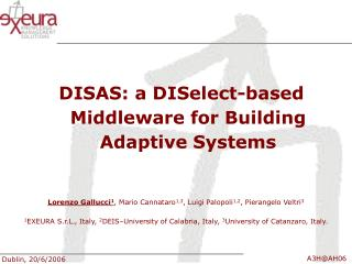DISAS: a DISelect-based Middleware for Building Adaptive Systems