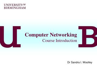 Computer Networking Course Introduction