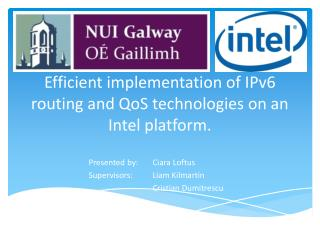Efficient implementation of IPv6 routing and  QoS  technologies on an Intel platform.