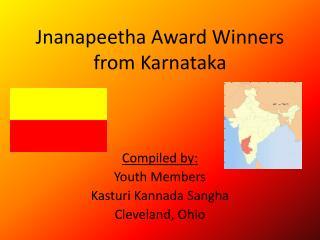 Jnanapeetha  Award Winners from Karnataka