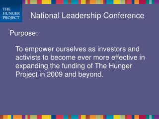 National Leadership Conference