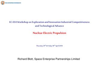 Richard Blott, Space Enterprise Partnerships Limited