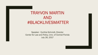 Trayvon Martin AND # blacklivesmatter