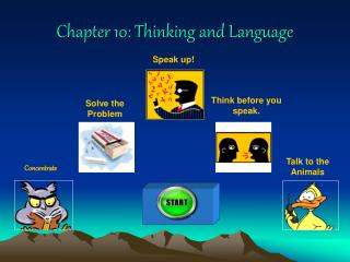 Chapter 10: Thinking and Language