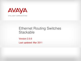 Ethernet Routing Switches Stackable