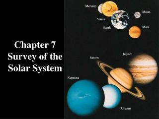 Chapter 7 Survey of the Solar System