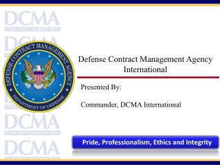 Defense Contract Management Agency  International