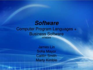 Software Computer Program Languages + Business Software HTM304
