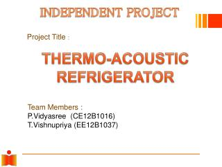 THERMO-ACOUSTIC REFRIGERATOR