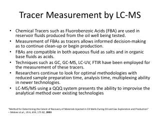 Tracer Measurement by LC-MS
