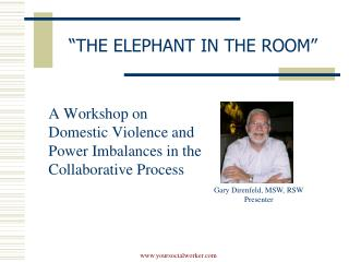 """THE ELEPHANT IN THE ROOM"""