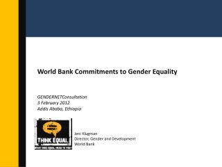 World Bank Commitments to Gender Equality